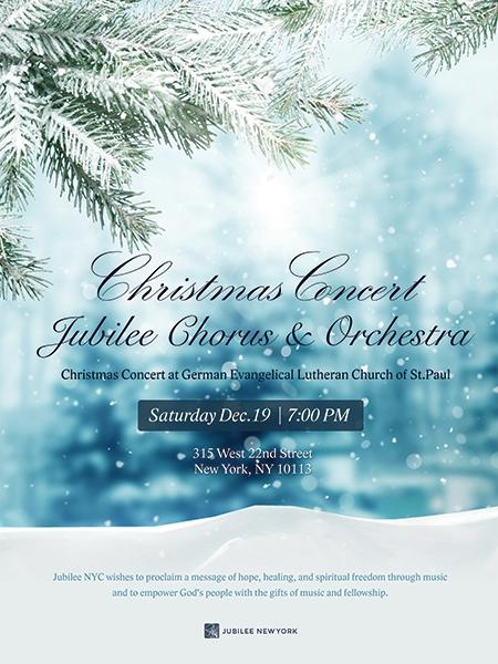 Jubilee Christmas Concert Poster