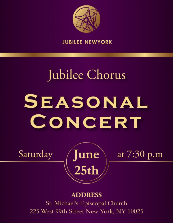 Jubilee Chorus Presents Seasonal Concert in New York City