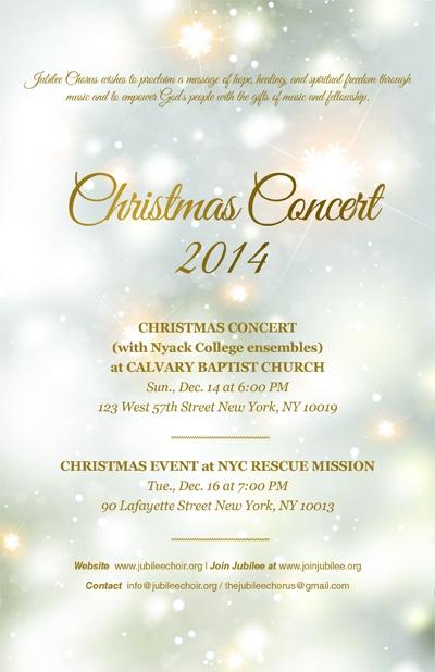 Jubilee Chorus Prepares for Christmas Concert