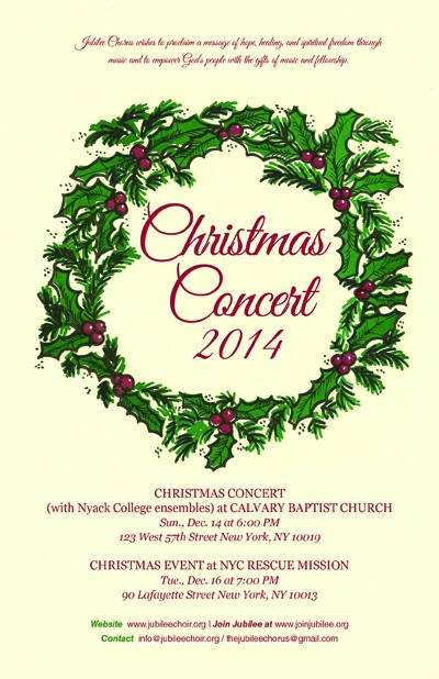 Jubilee Chorus NY Prepares for Christmas Concert