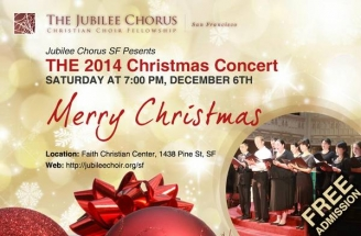 Jubilee Chorus SF to present Christmas concert on Dec. 6th