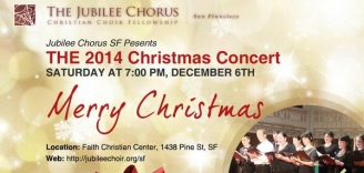 Jubilee Chorus SF to present Christmas concert on Dec. 6th